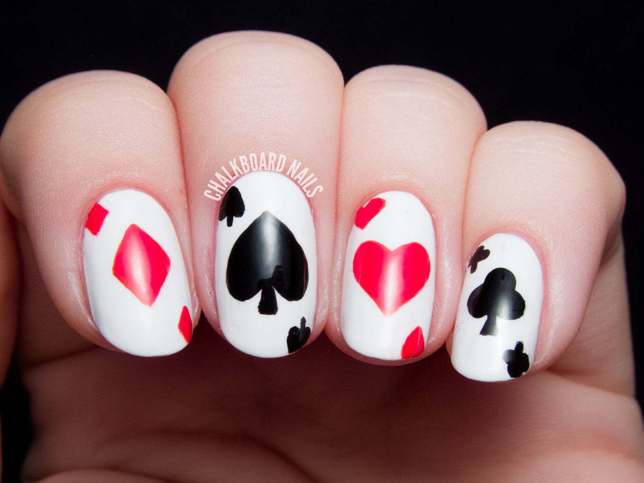 If You Remove The Thumb From This Equation Have A Sweet Las Vegas Playing Card Manicure