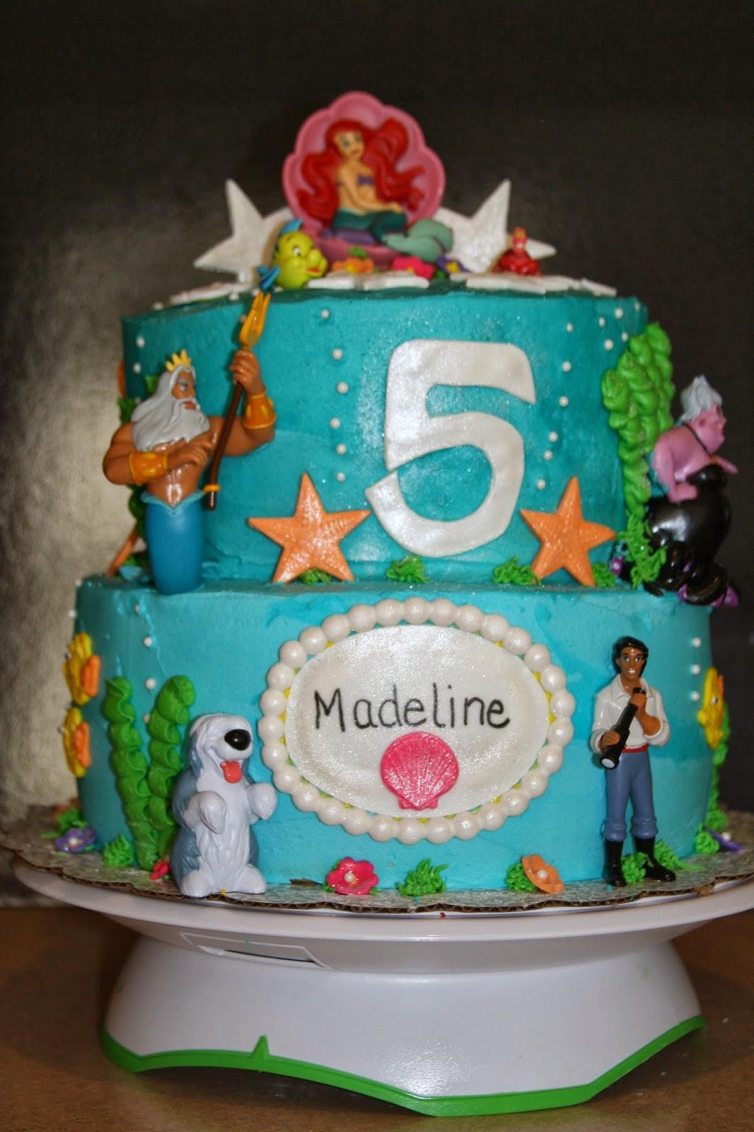 Little Mermaid 1st Birthday Cake Little Mermaid Birthday Cake