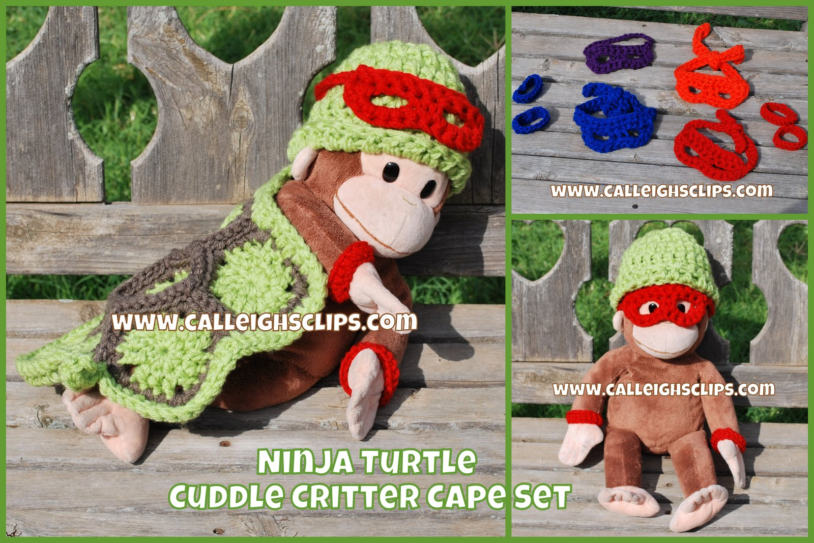 Free Crochet Pattern Ninja Turtle Mask : Calleighs Clips & Crochet Creations: Free Pattern ...