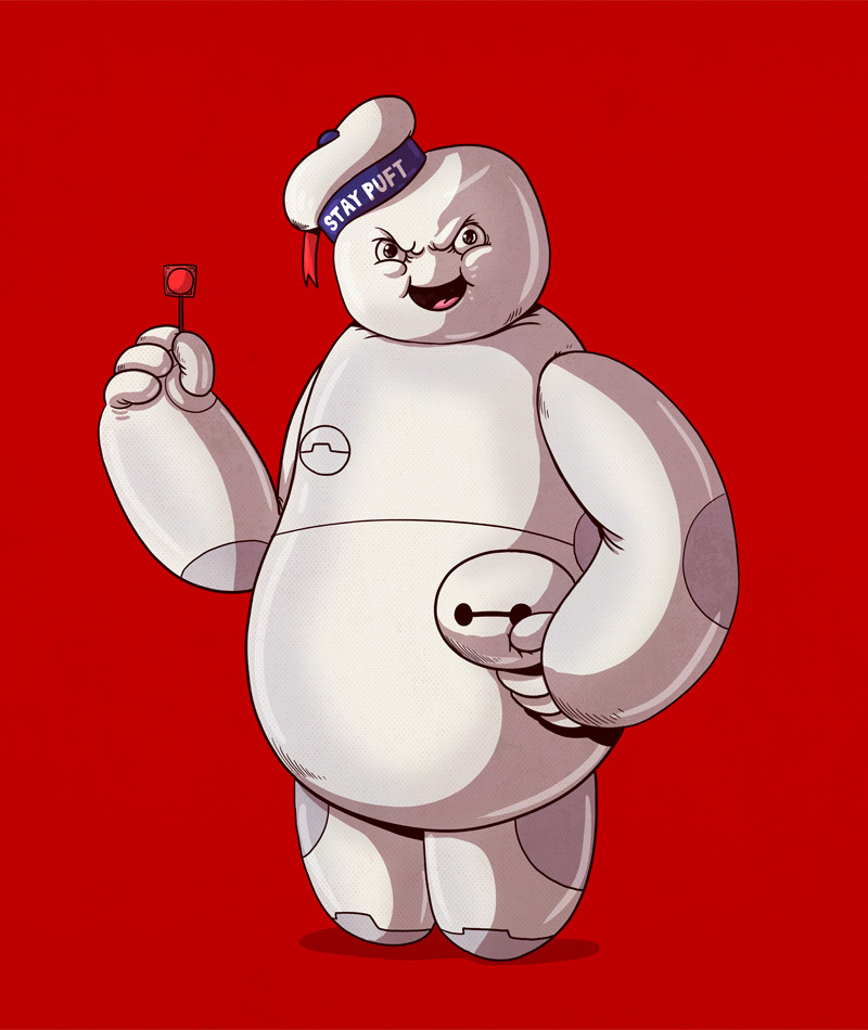 21-Stay-Puft-Marshmallow-Man-and-Baymax-Big-Hero-Alex-Solis-Illustrations-of-Icons-Unmasked-www-designstack-co