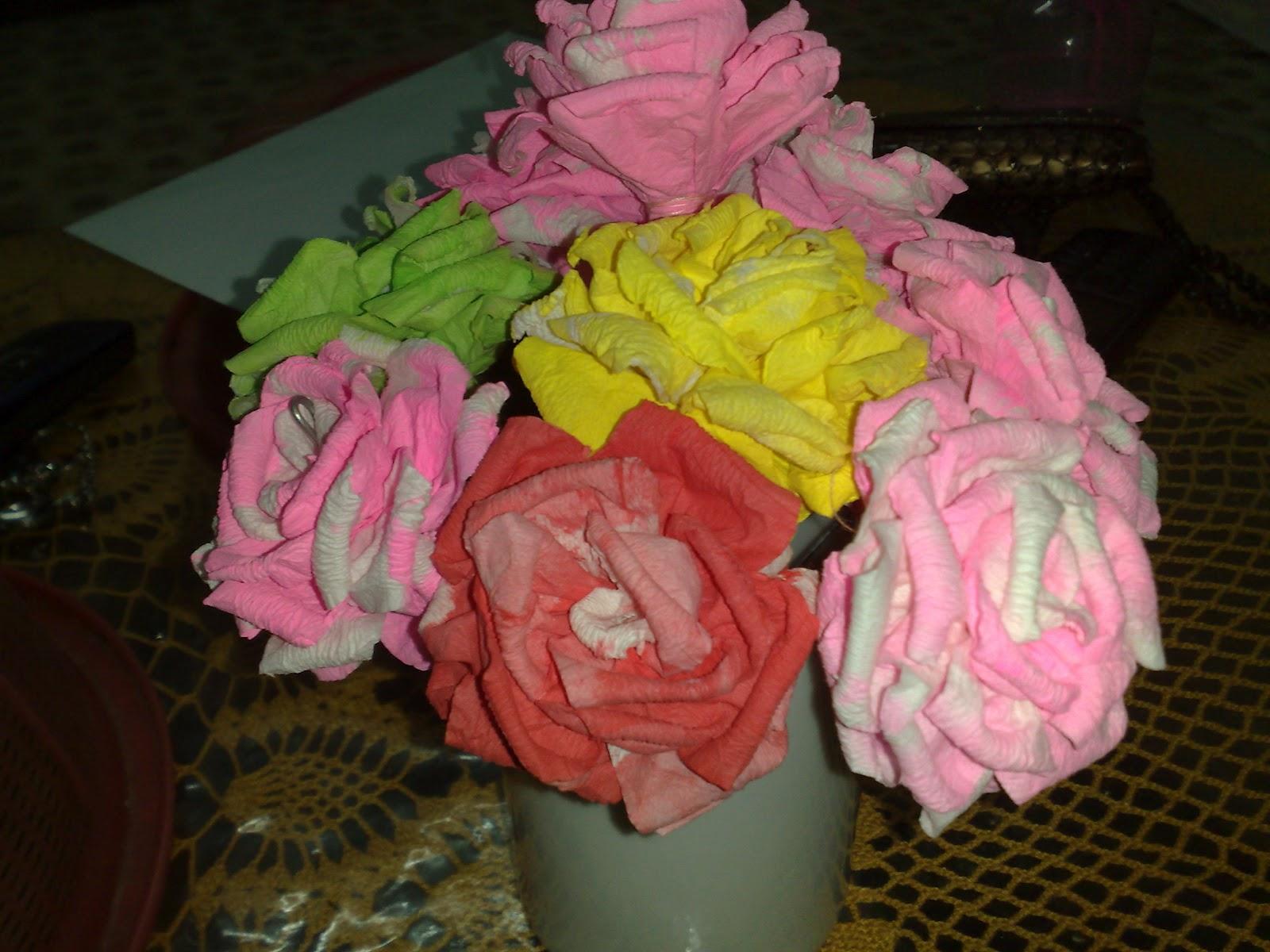 Cara Membuat Bunga Tisu