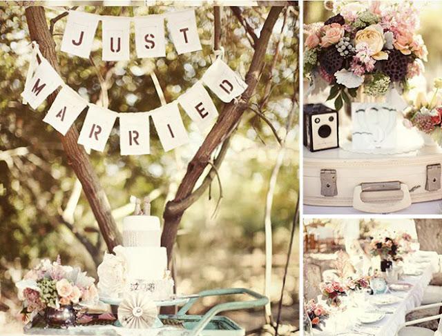 decoracao para casamento durante o dia:Você Noiva!: Inspirações