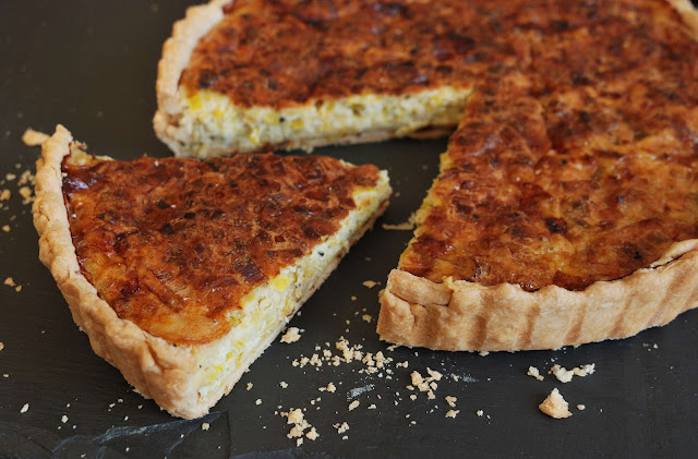 leek and blue cheese quiche recipe