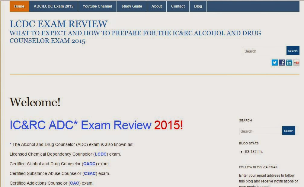 Alcohol And Drug Counselor Exam Review Study Guide For The Lcdc
