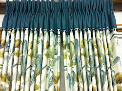 Interlined Flip top double pleated curtains