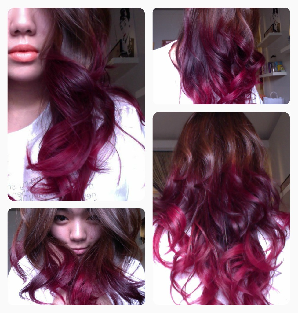 Red Purple Ombre Hair Ombre hair #2