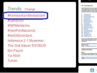 Tagar #KembalikanMediaIslam Jadi Trending Topic Dunia