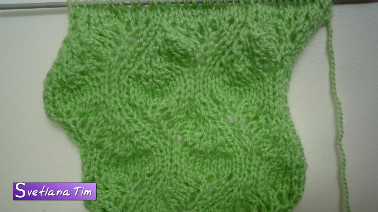 Как связать шарф-хомут спицами (схема) 60