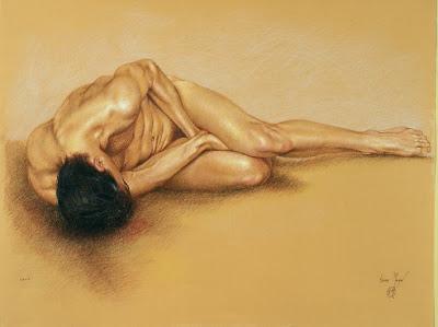 Cuerpos en el tiempo - Página 2 Arte+al+oleo,+desnudos+masculinos+dibujo+homre+sanguina