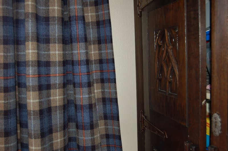 Donu0027t You Love The Harris Tweed Curtains She Made For Her Family Room?