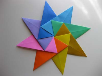 Origami Modular 8-Pointed StarOrigami Ninja Star Instructions
