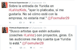 Yuridia Coach de La Voz Kids Mexico
