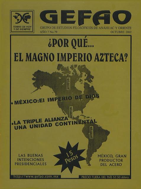 ¿Por qué del Magno Imperio Azteca? Revista GEFAO