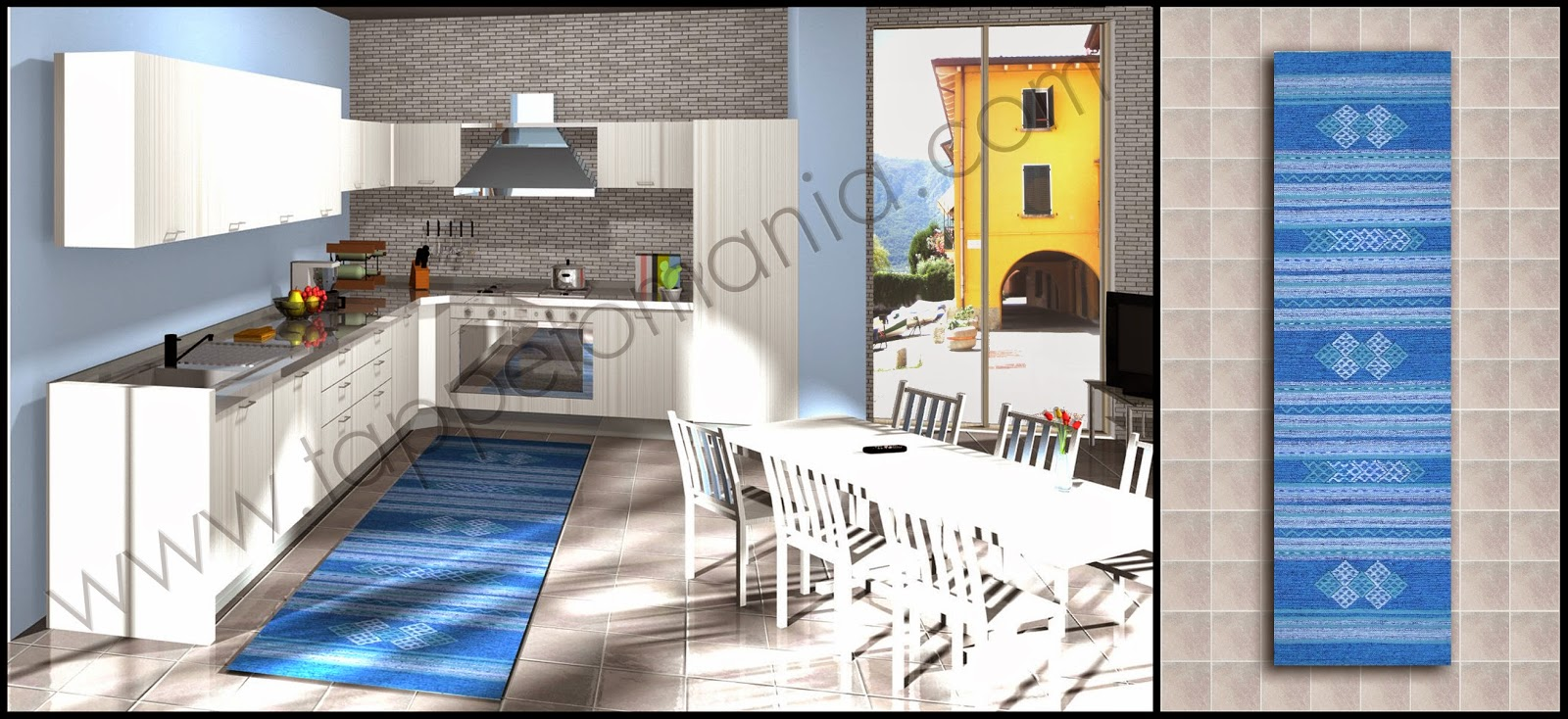 Tappeti antiscivolo online tappeti tappeti cucina stuoie for Passatoie per cucina