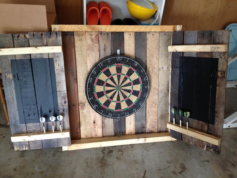 Pallet Dart Board Cabinet