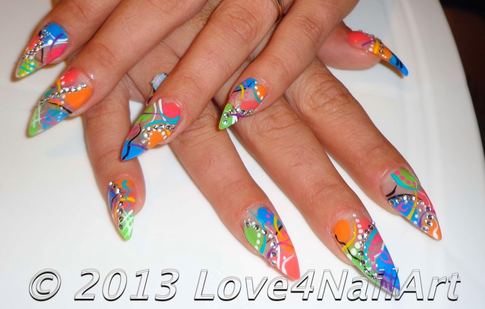 Exotic Nail Art Designs Photos Best Nail 2017 Super Long Acrylic in Abstract Nail Art Design 2015