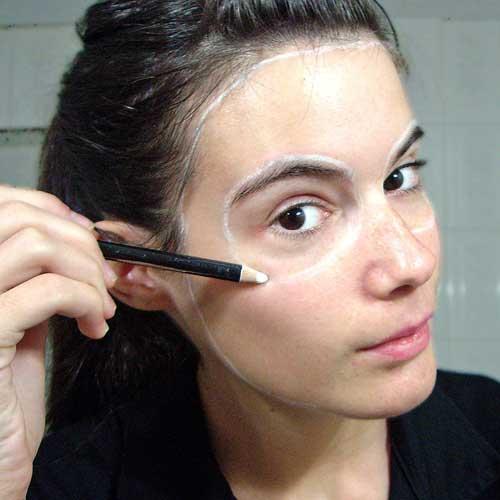 hacer maquillaje calavera primer paso