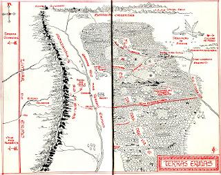 Mapa das Terras Ermas do livro O Hobbit
