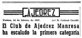 El origen del Club Ajedrez Manresa en los periódicos
