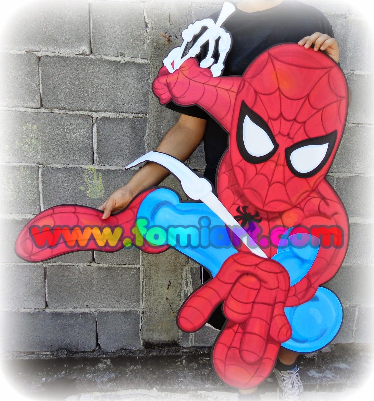 Spiderman en foami, goma eva, manualidades