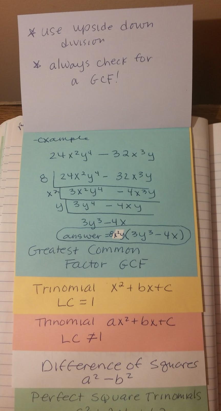 Beautiful Math: Factoring Polynomials (Algebra One)