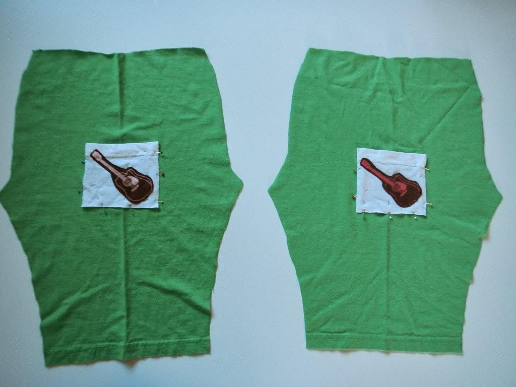 DIY toddler baby tshirt pants with pockets