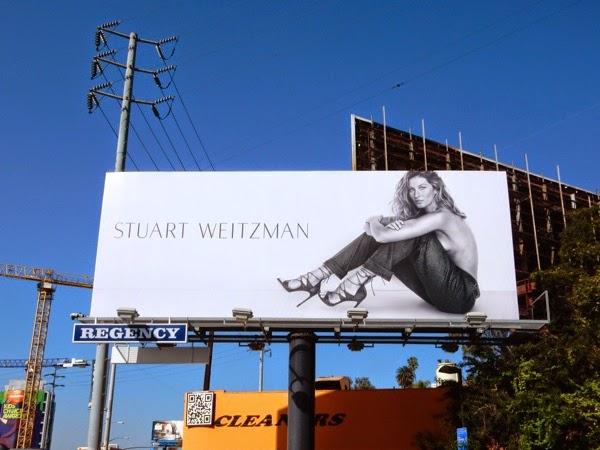 Gisele Bundchen Stuart Weitzman Spring 2015 billboard