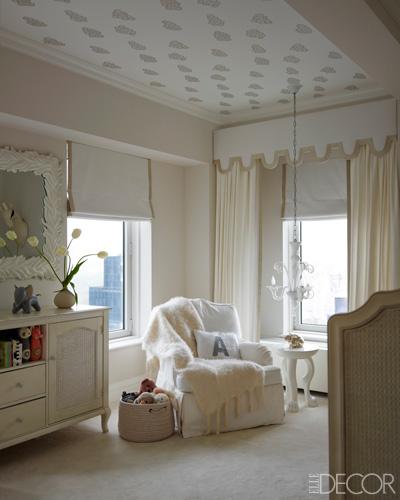 elle decor beautiful white neutral  nursery