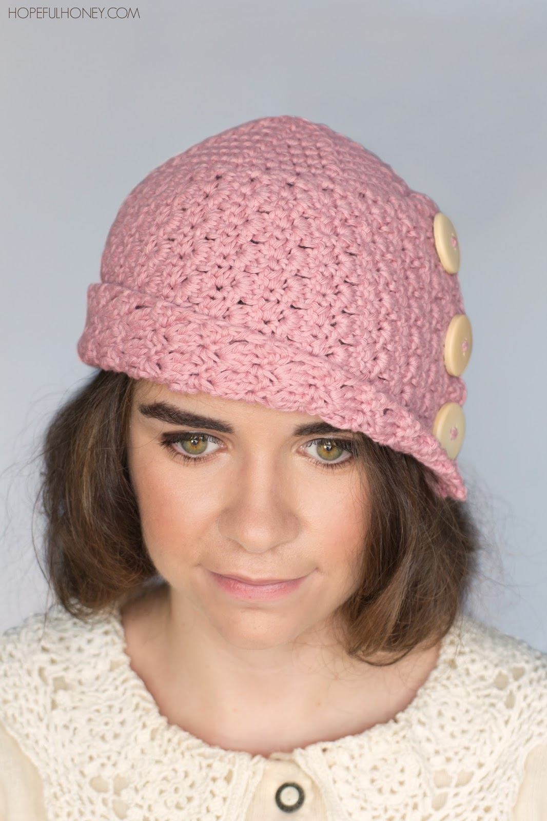 Crochet Hat Pattern Cloche : Hopeful Honey Craft, Crochet, Create: 1920s Rosebud ...