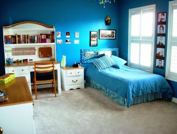 Kamar anak perempuan nuansa biru