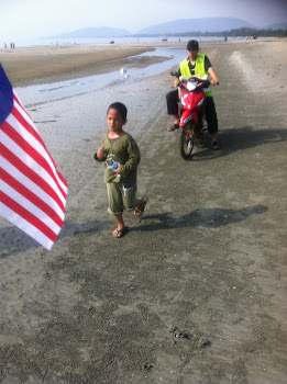 Amjah..peserta termuda..Larian Bersih Merdeka