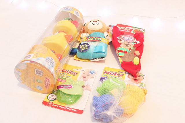 nuby santa surprise lucky dip bundle blog review