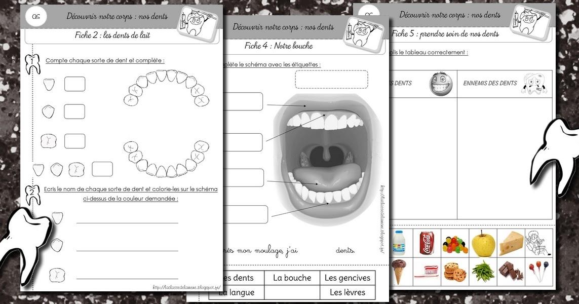 Bien connu La maternelle de Laurène: Les dents SH08