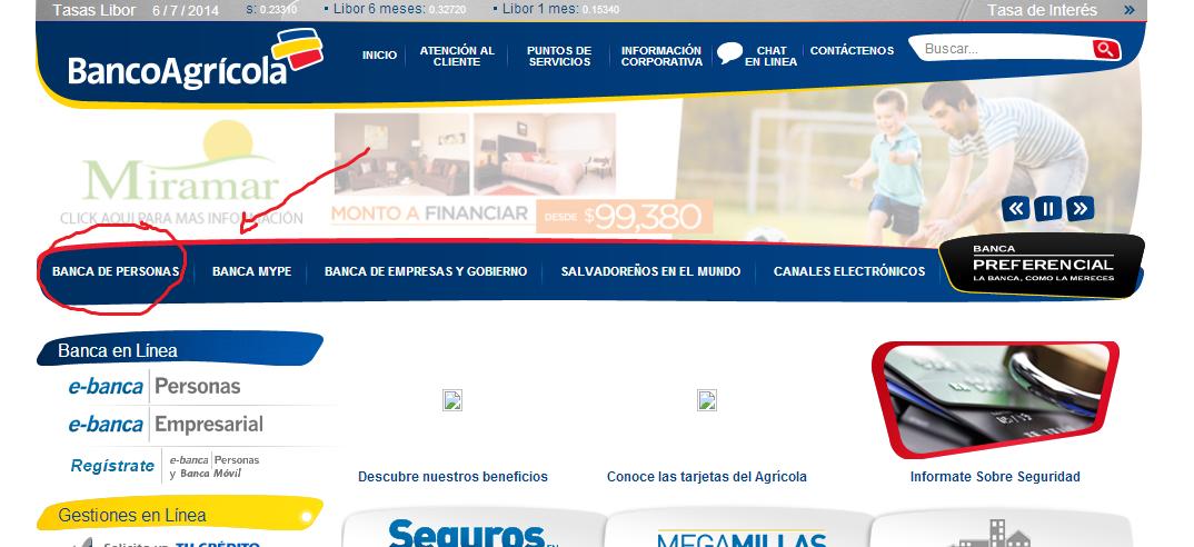 portal web de banco agricola el salvador