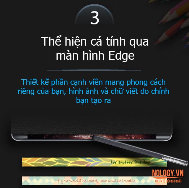 Thể hiện cá tính qua màn hình cong của Galaxy note Edge Au