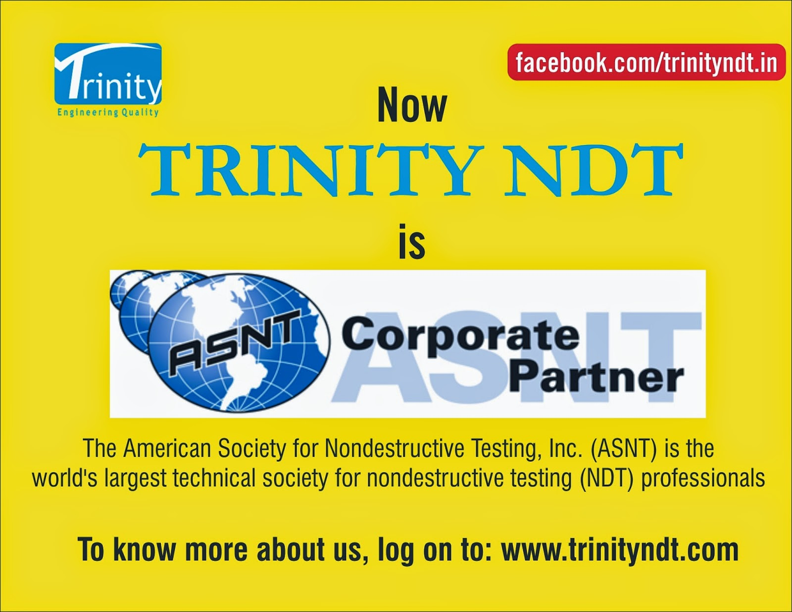 Nabl ndt labs ndt welding inspection training chennai mumbai in the endeavor to offer world class nondestructive testing ndt testing and training certification services trinity ndt has become a corporate member 1betcityfo Gallery