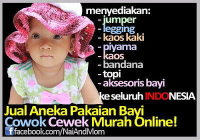 NaiAndMom BabyShop - Pakaian Bayi Cowok Cewek Murah Online