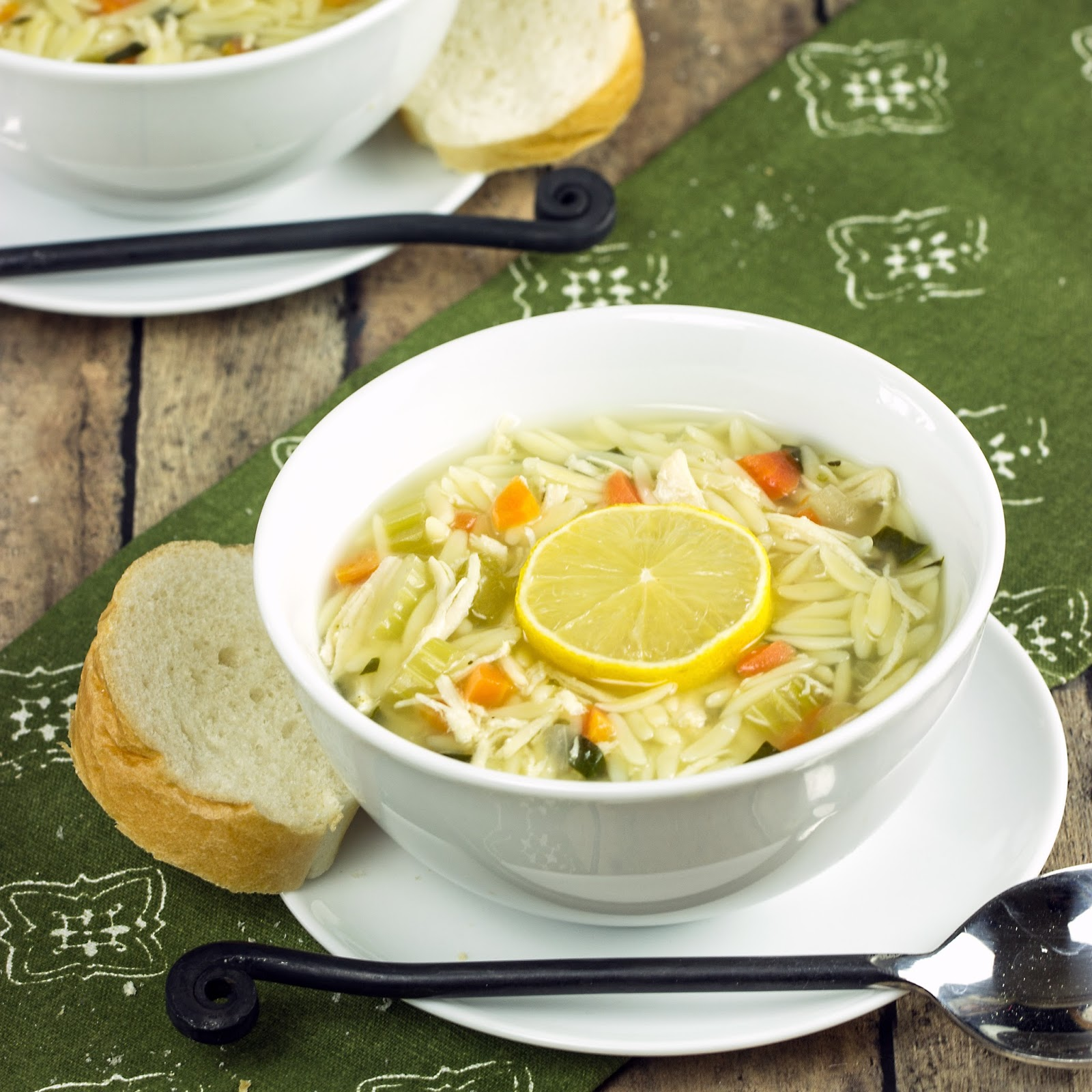 Lemon Chicken Orzo Soup Recipe — Dishmaps