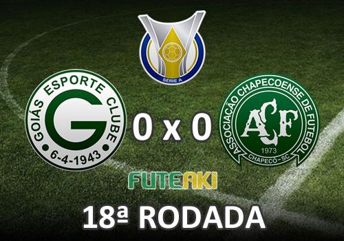 Veja o resumo da partida com os melhores momentos de Goiás 0x0 Chapecoense pela 18ª rodada do Brasileirão 2015