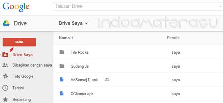 Upload File JavaScript di Google Drive