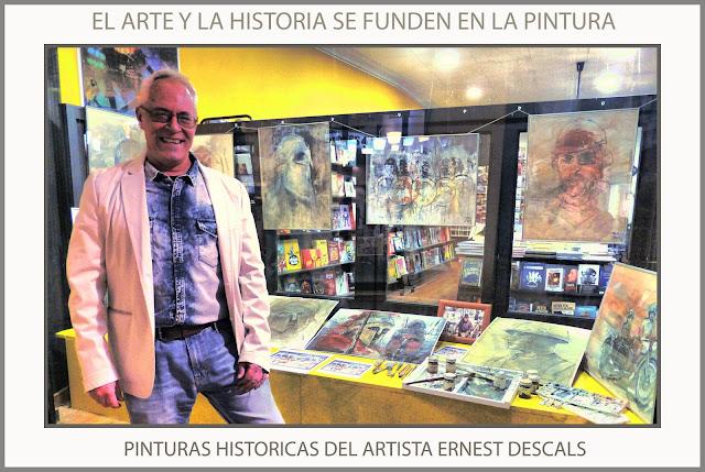 PINTURAS-HISTORIA-HISTORICAS-PINTURA-ARTE-MILITAR-HISTORICO-EXPOSICION-ARTISTA-PINTOR-ERNEST DESCALS-2 DE PIQUES-MANRESA-CATALUNYA-
