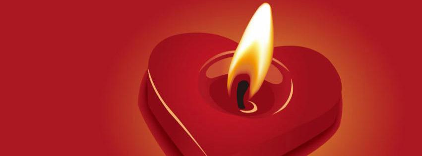 Burning Candle Heart