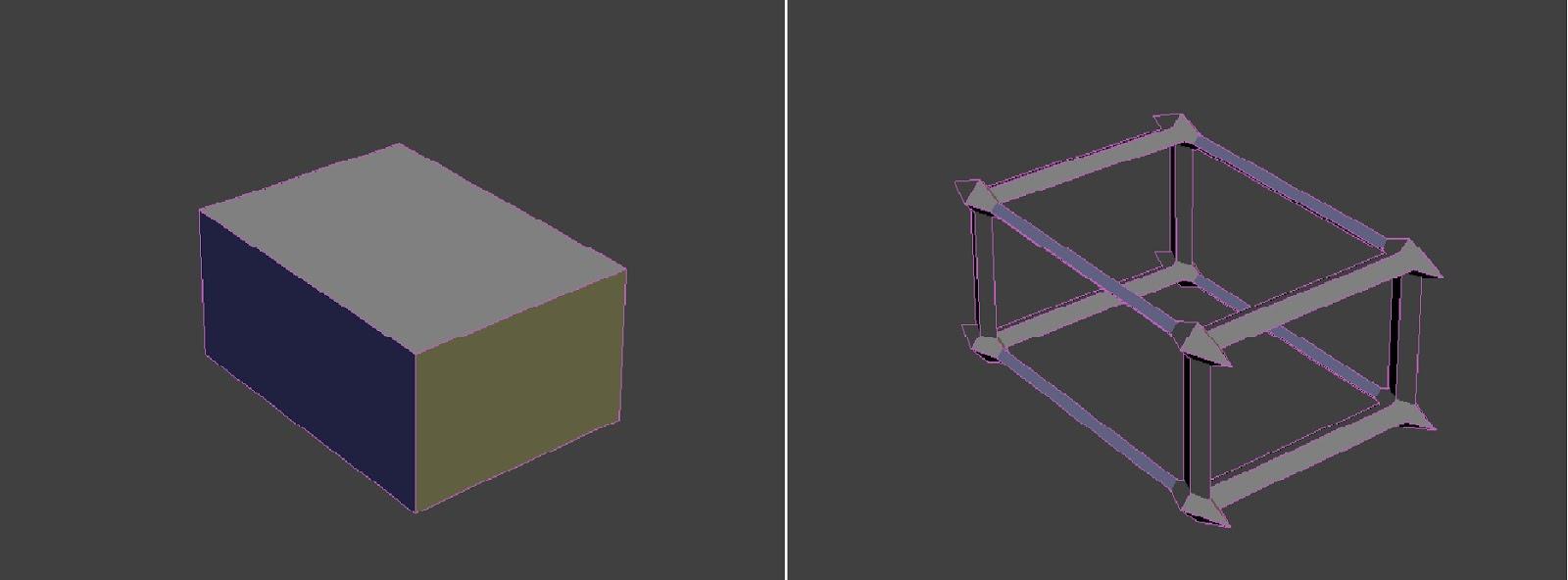 Уроки ds max Каталог статей Персональный сайт Модификатор lattice изменяет вид объекта создавая решетку из ребер Контрольный объект бокс и контрольный объект с применением модификатора apply to