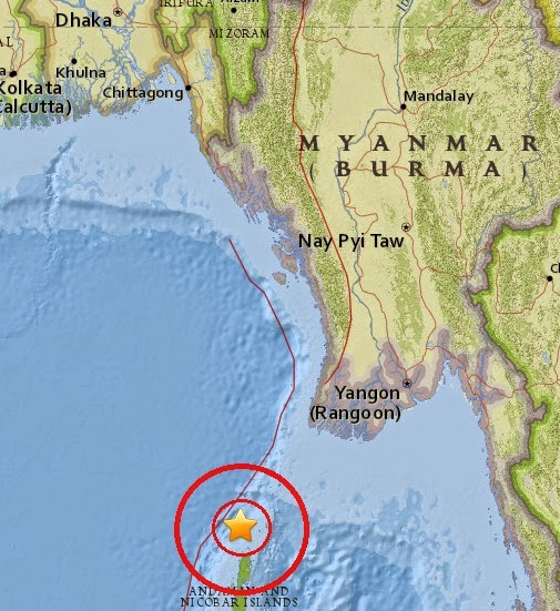 Magnitude 5.1 Earthquake of Bamboo Flat, India 2015-04-09