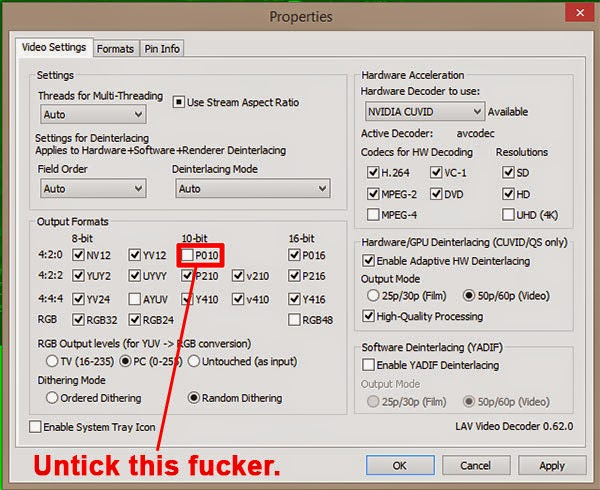 How to fix cccp mpc hc mkv video green screen problem 2015 hypentech
