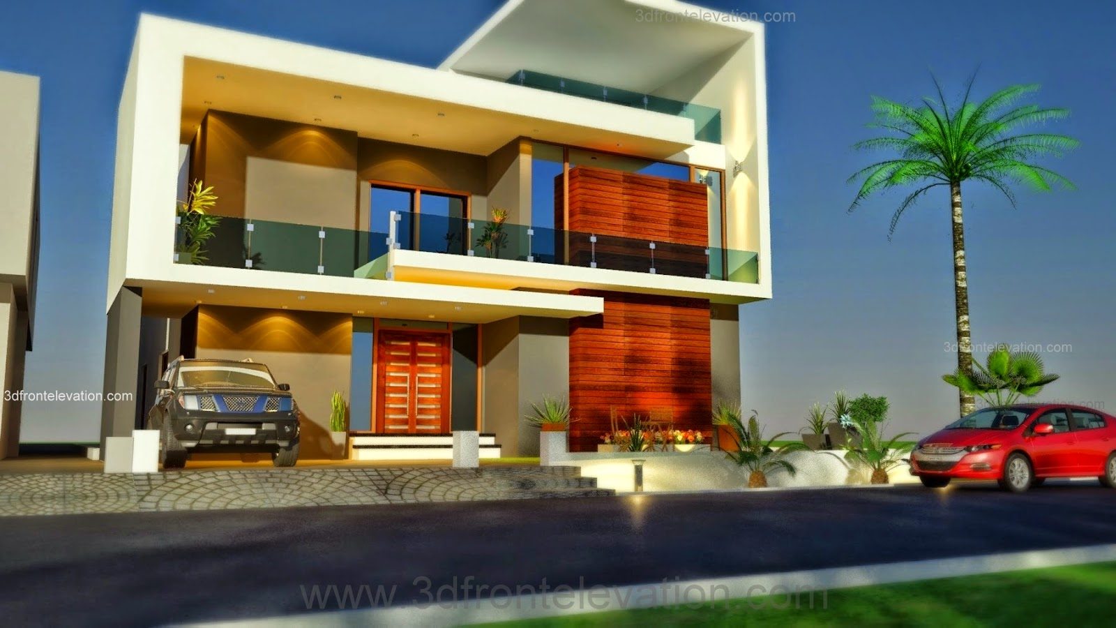3d front beautiful pakistani 1 kanal modern for Home design 2014