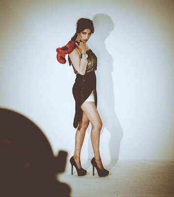 Shruti Haasan on Filmfare - Behind the scenes photo shoot