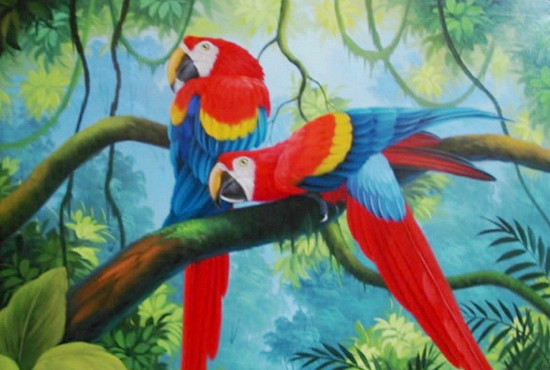 Cuadros pinturas oleos paisajes con aves - Los cuadros mas bonitos ...