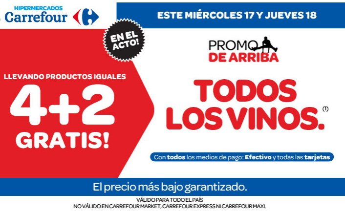ofertas y promos en argentina promo carrefour miercoles y jueves. Black Bedroom Furniture Sets. Home Design Ideas