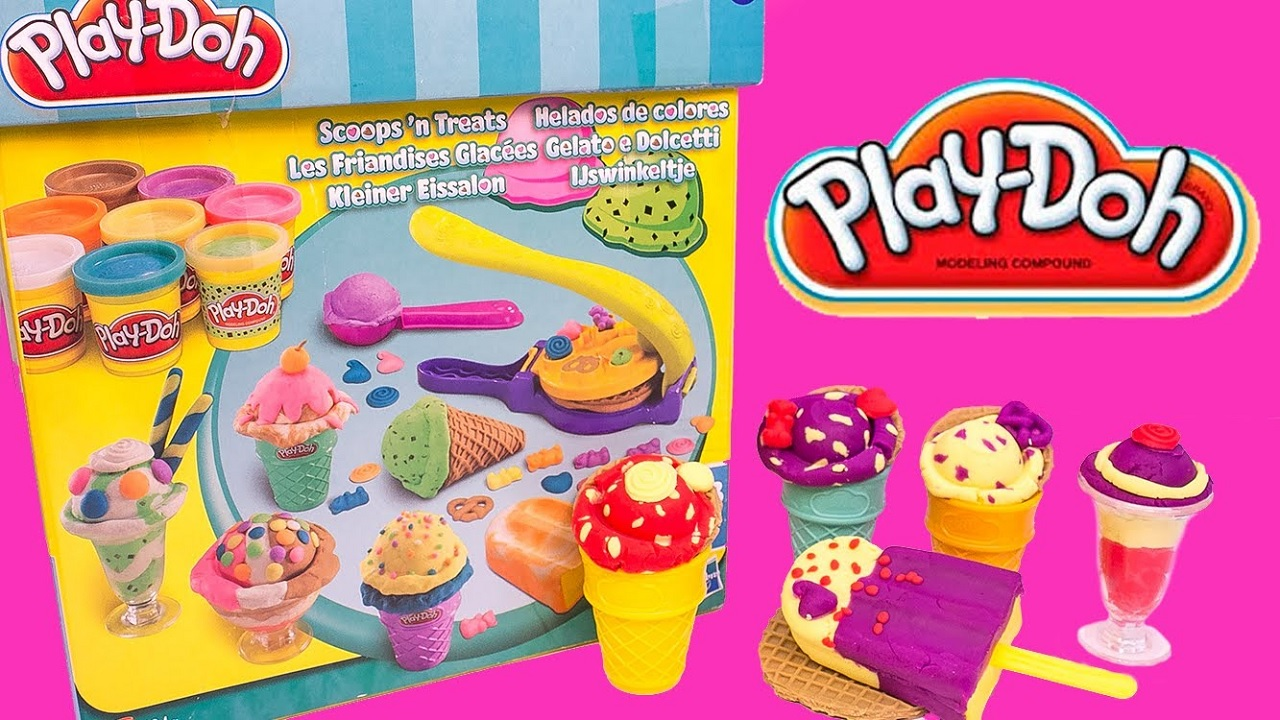 Kids and toys greatest games play doh scoops n treats ice cream well show you how to make delicious ice creams with play dough plasticine ice lolly delicious scoop of ice cream and crisp waffles ccuart Image collections